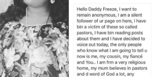 Woman Reveals How Lagos Pastor Slept With Her Twice During Deliverance Session